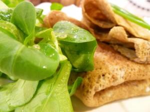 galette de sarrasin vegetarienne